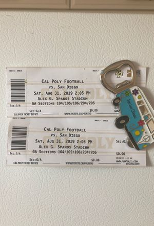 (2) Cal Poly vs. San Diego General Admission tickets 8/31 for Sale in San Luis Obispo, CA