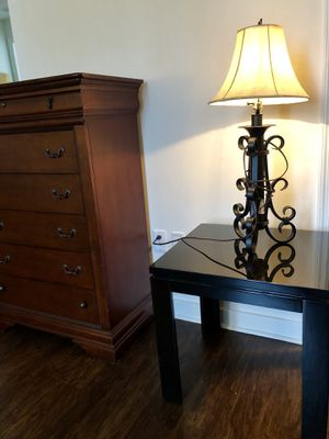Black laquer side table tv stand gametable nightstand coffee table for Sale in Orlando, FL