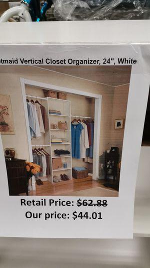 "Closet maid vertical closet organizer 24 "" white for Sale in San Lorenzo, CA"