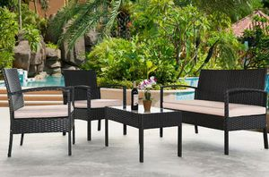 Brand new 4-piece patio furniture/ patio furniture set/outdoor furniture/muebles de patio/outdoor furniture sets. *SAME DAY DELIVERY* for Sale in Fort Lauderdale, FL