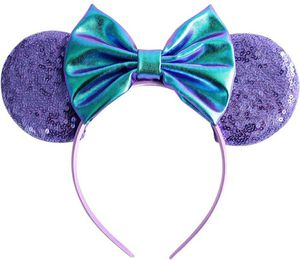 Mickey Mouse Minnie Mouse Ears Purple Sequins ears holographic bow for Sale in Westchester, CA