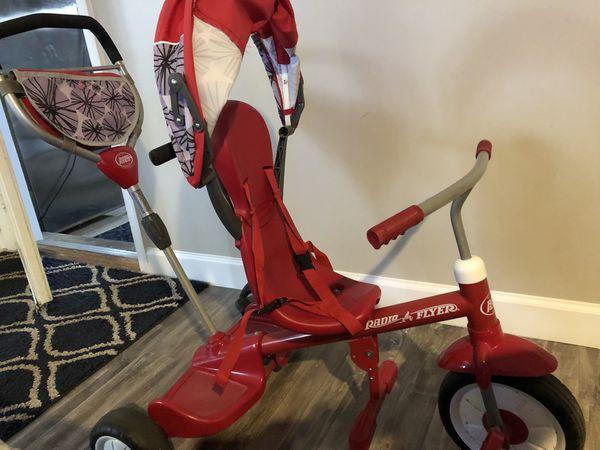 Red stroller bike
