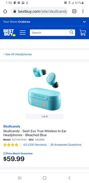 Skullcandy Sesh Evo True wireless earbuds Brand new for Sale in Cary, NC