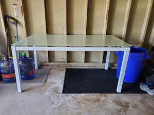 Metal and glass dining or office table for Sale in Erie, PA