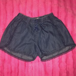 Jessica Simpson kids size large chambray eyelet shorts for Sale in Saint Albans, WV