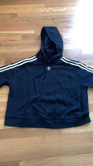 cute black adidas hoodie size medium for Sale in Darien, CT