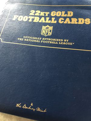 The Danbury Mint 22kt gold football card for Sale in San Jose, CA