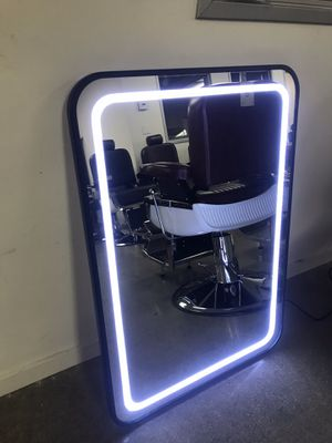 Vanity mirror LED barber salon makeup tattoo facial esthetician mirror glass station for Sale in Commerce, CA