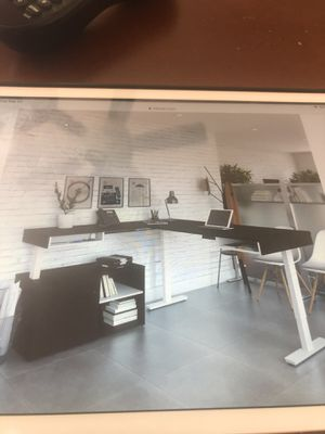 Bestar electric desk with credenza great condition retails at 1400 selling for 700 for Sale in Tamarac, FL