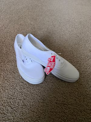 Authentic White Vans (9.5) for Sale in Anaheim, CA