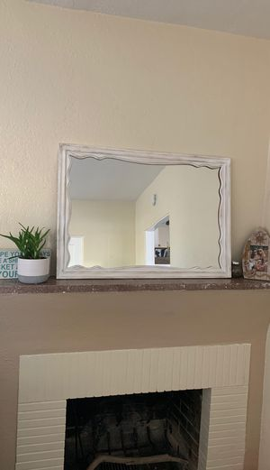 Antique Rustic White Mirror for Sale in San Diego, CA