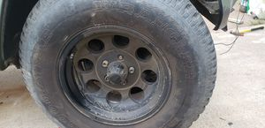 3 wheel 5x4.5 lug pattern fits jeep xj and Ford ranger 200 60% thread life for Sale in Salinas, CA