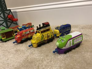 Trains Chuggington and Cranky from Thomas the Train for Sale in Durham, NC