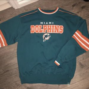 Miami Dolphins Authentic Vintage Crewneck Unisex Large Oversized Jersey Jacket Football for Sale in Seattle, WA