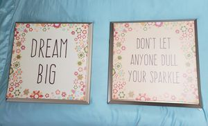 Girl's Room Decoration Wall Print Canvas Quotes for Sale in East Providence, RI
