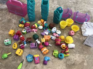 Shopkins Lot of 50+ pieces plus baskets and bags for Sale in South Elgin, IL