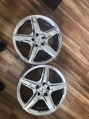 Authentic Chrome Mercedes Benz AMG Rims for Sale in Rex, GA