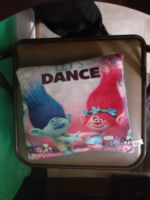 Trolls let's dance kid size pillow for Sale in Lacey, WA
