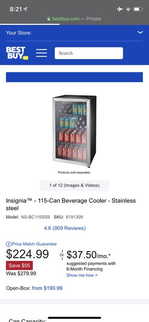 Insignia™ - 115-Can Beverage Cooler - Stainless steel for Sale in Lexington, KY