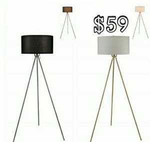 Only Gold Floor Lamp With White Shade Available for Sale in Houston, TX