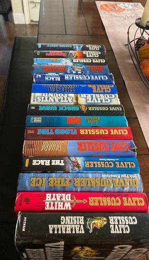 Clive Cussler Book collection for Sale in Fresno, CA
