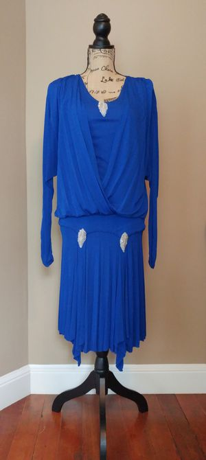 1920s 30s Royal Blue Flapper Dress Costume Women's Size Small for Sale in Monroe, WA