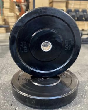 One pair of brand new 45 pound bumper plates Olympic weights for Sale in Puyallup, WA