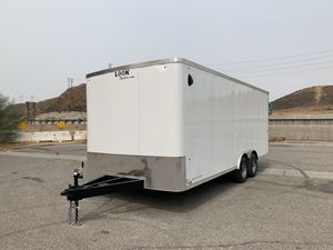 102x20 Enclosed Trailer * drive over fenders * for Sale in Redlands, CA