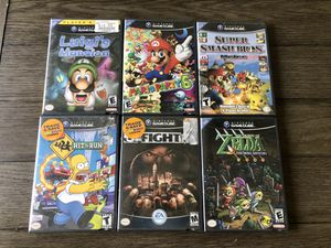 GameCube Lot Of 6 - Def Jam Fight For NY - Mario Party 6 - ZELDA for Sale in Fresno, CA