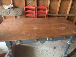 Wooden dining table for Sale in Dearborn, MI