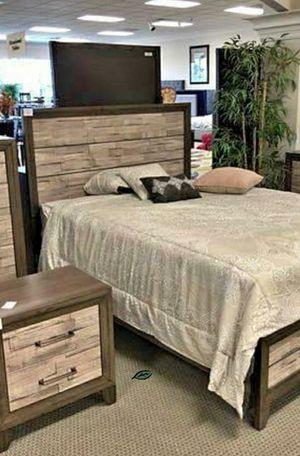 🍻🍾 $39 Down Payment 🕊      Jaren Light Brown Panel Bedroom Set 148 for Sale in Jessup, MD