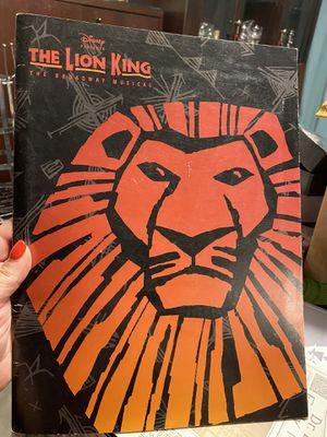 Disney The Lion King Broadway Program Book & Cast Insert 1997 $20 for Sale in Tampa, FL