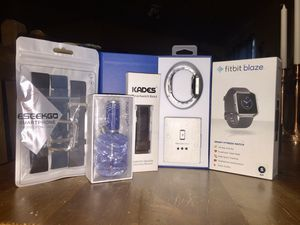 New in Box Fitbit Blaze Fitness Smart Watch with New Leather and Polymer Watch Bands for Sale in Evergreen, CO