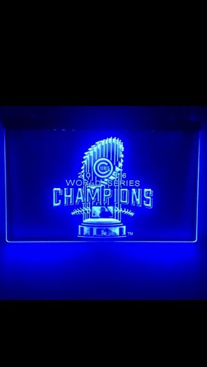"""Chicago Cubs Champions Lighted Sign (8""""x12"""") for Sale in Tinley Park, IL"""