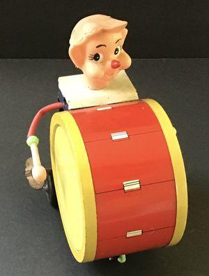 Wonderful Vintage Metal Drummer Boy Circus WInd-up Toy for Sale in Bluffton, SC