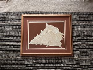 Vintage Embossed Serigraph Conch Art by David Allgood Signed 1982 for Sale in Raleigh, NC