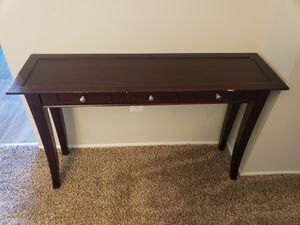 Cherry Wood Accent/Console Table w 3 Drawers for Sale in Aspen Hill, MD