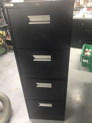 4 Drawer Filing Cabinet has dents and dings and surface rust but great for the garage You Pickup for Sale in New Ringgold, PA
