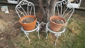 Garden vintage flower pot stands for Sale in Colorado Springs, CO