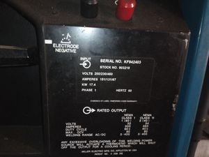 Miller 351 Welder 100 ft leads needs a new home heavy as hell for Sale in Oklahoma City, OK