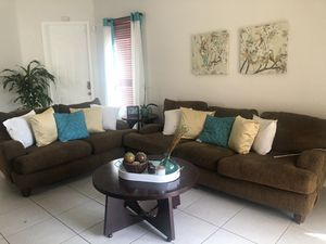 Loveseat, sofa, end tables and console table for Sale in Homestead, FL