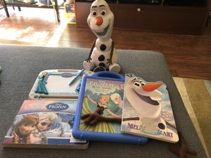 Frozen toy and books for Sale in Columbia, MD