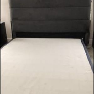 Queen Headboard/footboard And Box Mattress for Sale in Manassas, VA