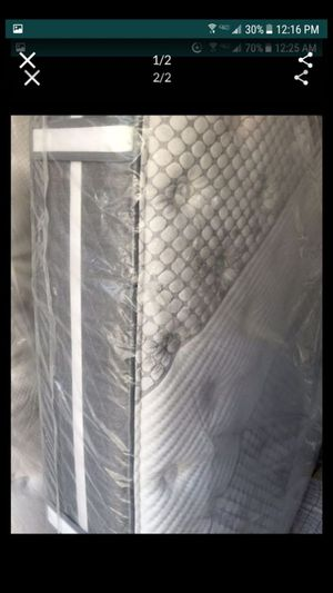 Brand new full-size mattress and box spring metal frame included for Sale in Hampton, VA