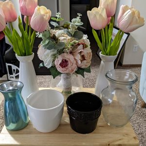 Artificial Flowers And Pots (7 Pieces) for Sale in Columbus, OH