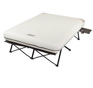 "Coleman 22"" Queen Air Mattress Folding Cot with Side Table and 4D Battery Pump for Sale in Taylor, MI"