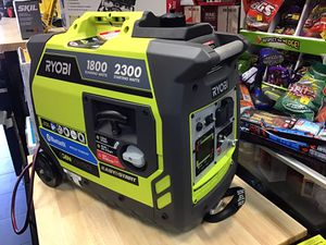 Ryobi 2300w BLUETOOTH super quiet 57dBA generator, on wheels, telescoping handle, LED screen, BRAND NEW for Sale in Redlands, CA