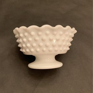 Fenton White Milk Glass Hobnail Pedestal Footed Candle Holder for Sale in La Habra, CA