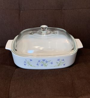 CorningWare Casserole Dish with Pyrex Lid—Blue Flowers for Sale in Vienna, VA