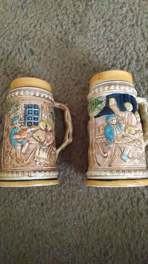 New never used hand crafted drinking mugs or decor Asking $20 for both cups (set) for Sale in Dallas, TX